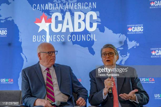 Joe Crowley former congressman and Don Johnson former congressman talk about Why Trade Matters during the Prospects for USMCA Ratification Trilateral...