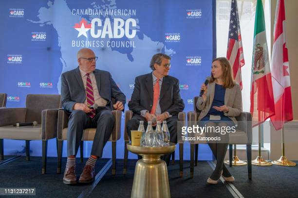 Joe Crowley former congressman Don Johnson former congressman and Lauren Gardner of Politico talk about Why Trade Matters during the Prospects for...