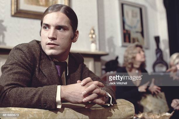 Joe Dallesandro filming a scene for Andy Warhol's 'Heat' in 1971