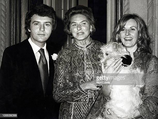 Joe Daly, Ingrid Bergman, and Pia Lindstrom during Joe Daly and Pia Lindstrom's Wedding at Pia Lindstrom's Central Park West Apartment in New York...