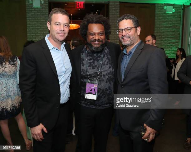 Joe Daniels Bonin Bough and Alexander Dinelaris attend the 2018 Tribeca Film Festival awards night after party on April 26 2018 in New York City