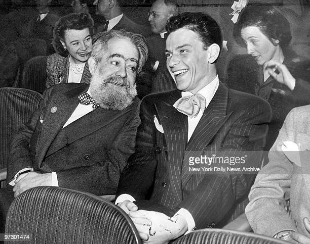Joe Davidson and Frank Sinatra attending a session of the United Nations