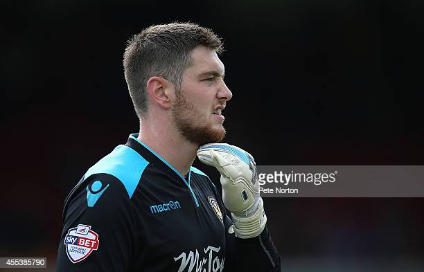 Joe Day of Newport County in action during the Sky Bet League Two match between Newport County and Northampton Town at Rodney Parade on September 13...
