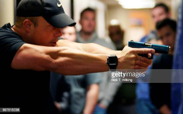Joe Deedon former law enforecement officer and owner of Tac*One Consulting teaches a 'Lone Wolf' civilian active shooter response course for...