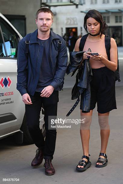 Joe Dempsie and Georgina Campbell are seen at BBC Radio One on August 23 2016 in London England
