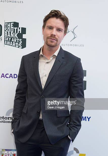 Joe Dempsie arrives for the The South Bank Sky Arts Awards at The Savoy Hotel on June 5 2016 in London England