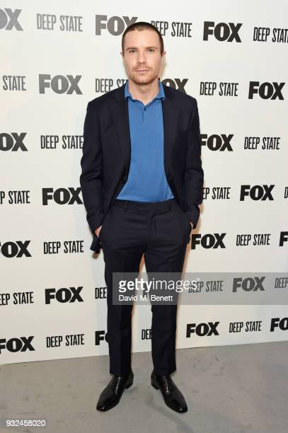 Joe Dempsie attends the Global Premiere of 'Deep State' the new espionage thriller from FOX at the Curzon Soho on March 14 2018 in London England
