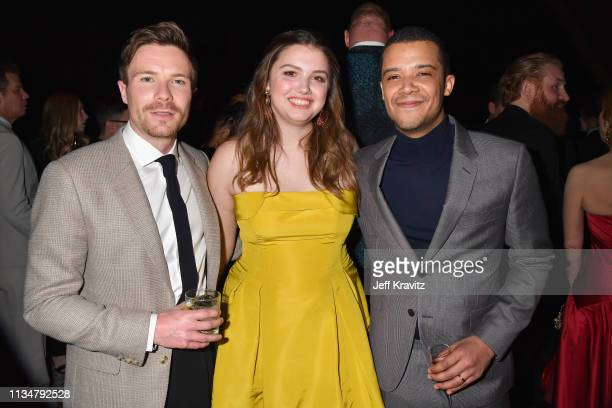 Joe Dempsie Hannah Murray and Jacob Anderson attend the Game Of Thrones Season 8 NY Premiere After Party on April 3 2019 in New York City