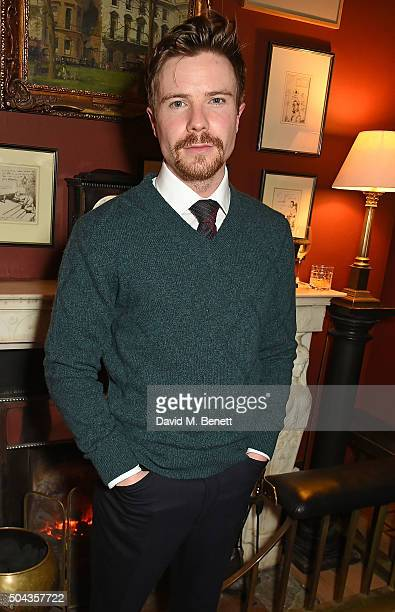 Joe Dempsie wearing dunhill attend dunhill Autumn Winter 2016 Collection Presentation LCM on January 10 2016 in London England