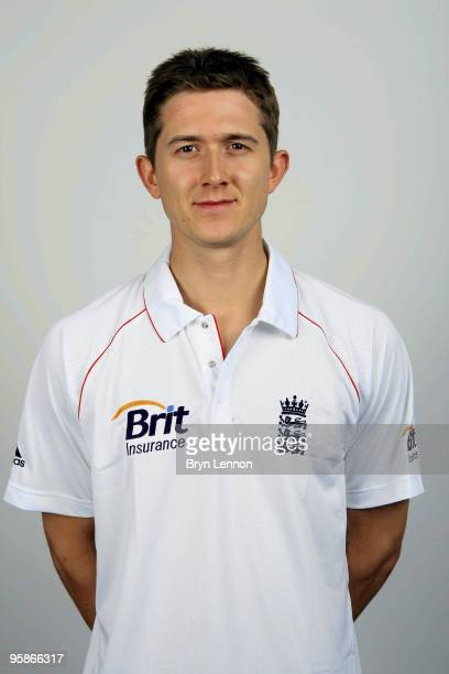 Joe Denley of England poses for the team portraits at the ECB Centre at University on October 28, 2009 in Loughbrough,England.