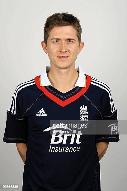 Joe Denley of England poses for the team portraits at the ECB Centre at University on October 28 2009 in LoughbroughEngland