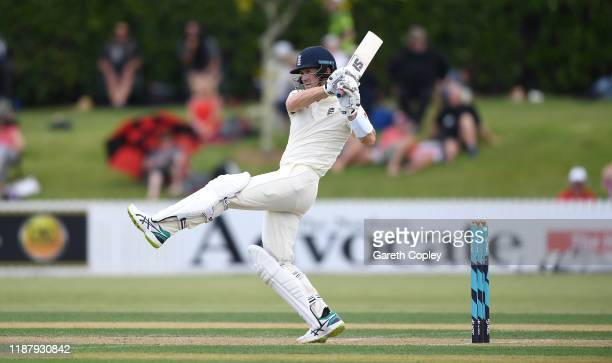 Joe Denly of England bats during day two of the tour match between New Zealand A and England at Cobham Oval on November 16, 2019 in Whangarei, New...