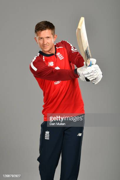 Joe Denly of England poses during the England Squad Portrait Session at Emirates Old Trafford on August 26, 2020 in Manchester, England.