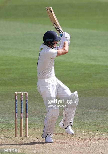 Joe Denly of Kent bats during Day 3 of the Bob Willis Trophy match between Kent and Middlesex at The Spitfire Ground on August 17 2020 in Canterbury...