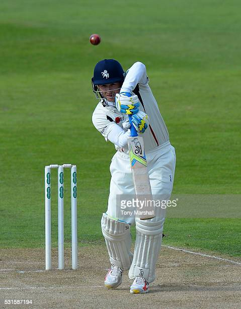 Joe Denly of Kent bats during day one of the Specsavers County Championship Division Two match between Northamptonshire and Kent at the County Ground...