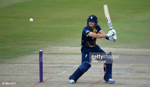 Joe Denly of Kent bats during the Natwest T20 Blast match between Gloucestershire and Kent at the College Ground on July 13 2017 in Cheltenham England