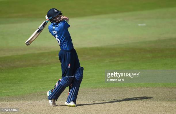 Joe Denly of Kent batting during the Royal London OneDay Cup match between Nottinghamshire Outlaws and Kent Spitfires at Trent Bridge on June 14 2018...