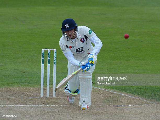 Joe Denly of Kent batts during day one of the Specsavers County Championship Division Two match between Northamptonshire and Kent at the County...