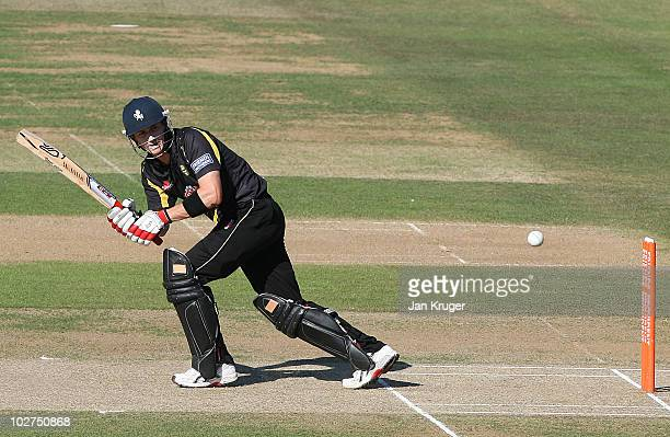 Joe Denly of Kent in action during the Friends Provident T20 match between Kent and Essex at The Brit Oval on July 9 2010 in London England