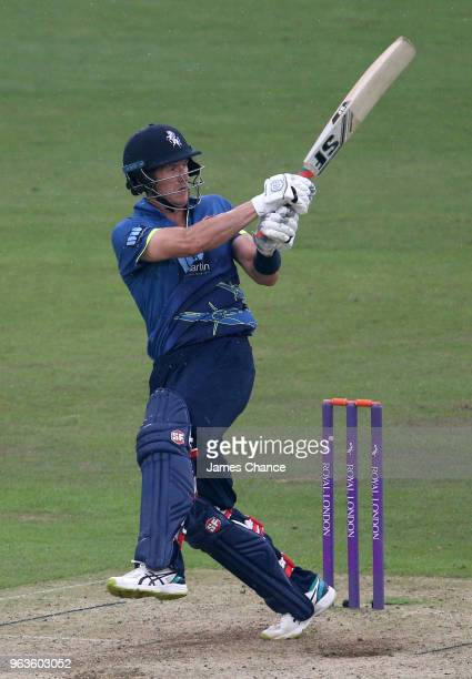 Joe Denly of Kent Spitfires bats during the Royal London OneDay Cup match between The Kent Spitfires and Somerset at The Spitfire Ground on May 29...