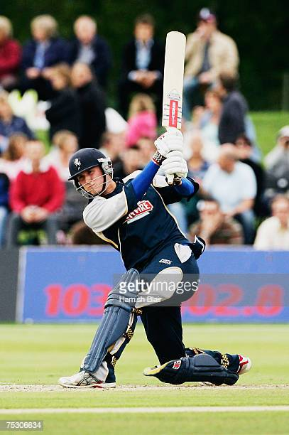 Joe Denly of Kent Spitfires in action during the The Twenty20 Cup match between Kent Spitfires and Middlesex Crusaders at Kent County Cricket Ground...