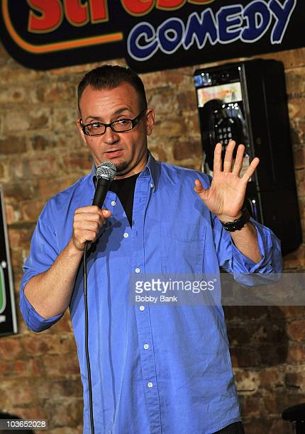 Joe DeVito performs at The Stress Factory Comedy Club on August 26, 2010 in New Brunswick, New Jersey.