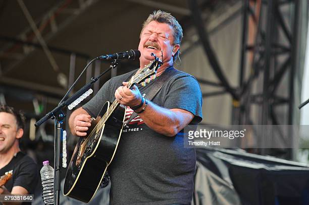 Joe Diffie performs on Day 3 of Country Thunder Milwaukee on July 23, 2016 in Twin Lakes, Wisconsin.