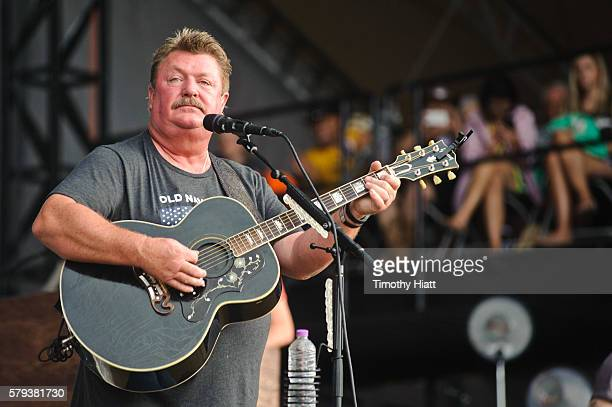Joe Diffie performs on Day 3 of Country Thunder Milwaukee on July 23 2016 in Twin Lakes Wisconsin