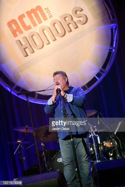 Joe Diffie performs onstage during the 12th Annual ACM Honors at Ryman Auditorium on August 22, 2018 in Nashville, Tennessee.