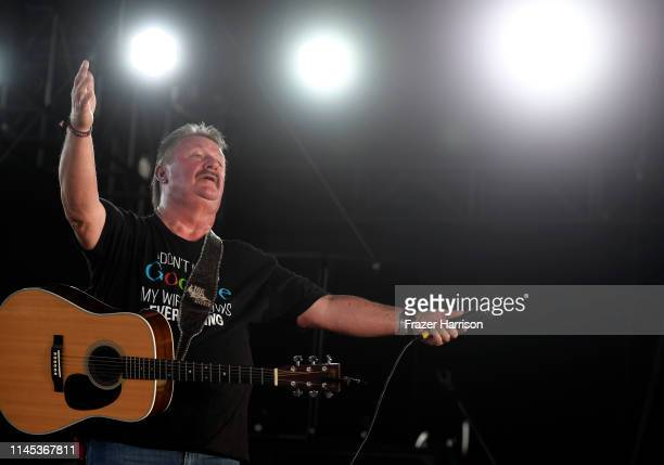 Joe Diffie performs onstage during the 2019 Stagecoach Festival at Empire Polo Field on April 26 2019 in Indio California