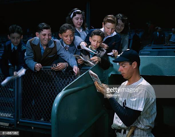 Joe DiMaggio autographs program for young fans.