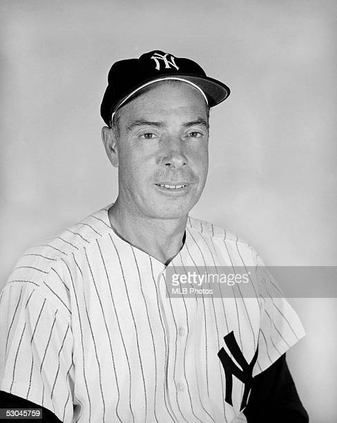 Joe DiMaggio of the New York Yankees poses for a portrait. Joe DiMaggio played for the Yankees from 1936-1942 and from 1946-1951.