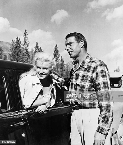 Joe DiMaggio visits Marilyn Monroe, on location in the Canadian wilderness, while filming River of No Return.