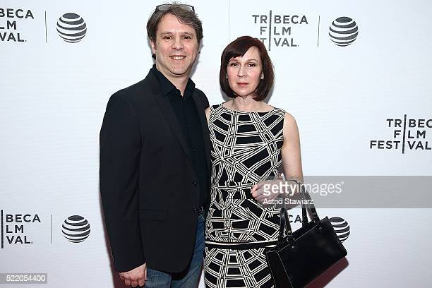 Joe D'Imperio and Lisa Cerasia attend Children of the Mountain Premiere 2016 Tribeca Film Festival at Regal Battery Park Cinemas on April 17 2016 in...