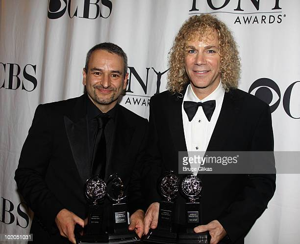 Joe Dipietro and David Bryan attend the 64th Annual Tony Awards at The Sports Club/LA on June 13 2010 in New York City