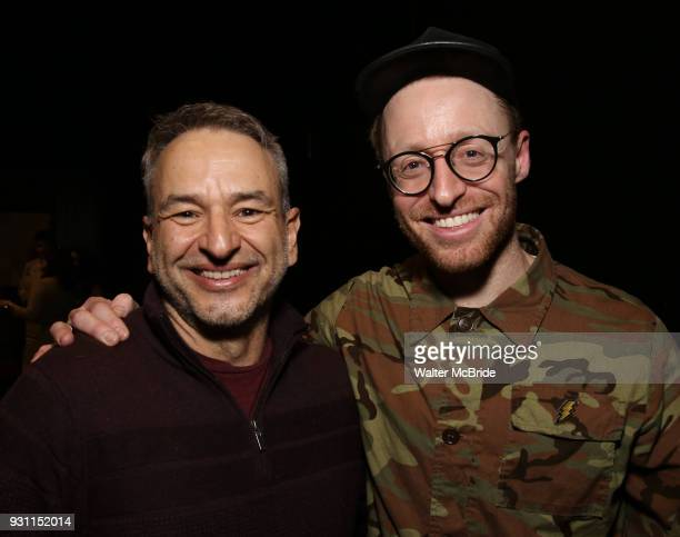 Joe DiPietro and Matt Gould attend The Dramatists Guild Foundation Salon with Matt Gould on March 12 2018 at StellarTower in New York City