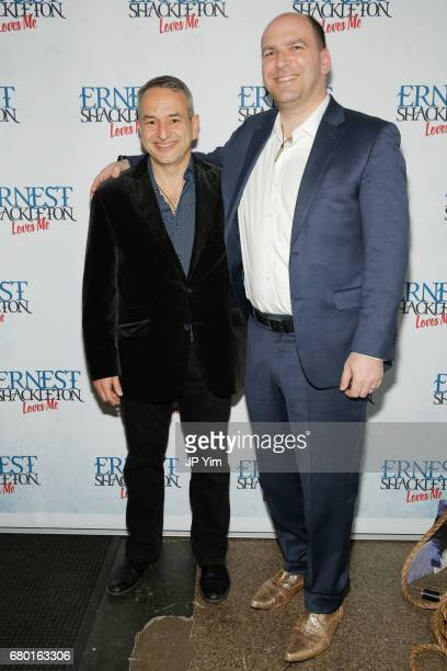 Joe DiPietro and Matthew Kwatinetz attend the OffBroadway opening of 'Ernest Shackleton Loves Me' at the Tony Kiser Theatre on May 7 2017 in New York...