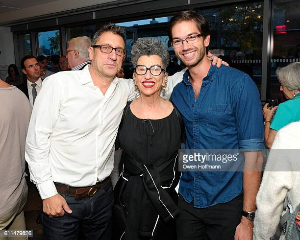 Joe Dolce Henny Garfunkel and James Blaszko attend God's Love We Deliver Cookbook Launch Party at God's Love We Deliver on September 28 2016 in New...