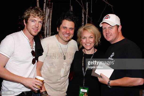 Joe Don Rooney Jay DeMarcus Claudia Robertson Fowler and Gary LeVox of Rascal Flatts attend the Backstage Creations celebrity retreat held during the...