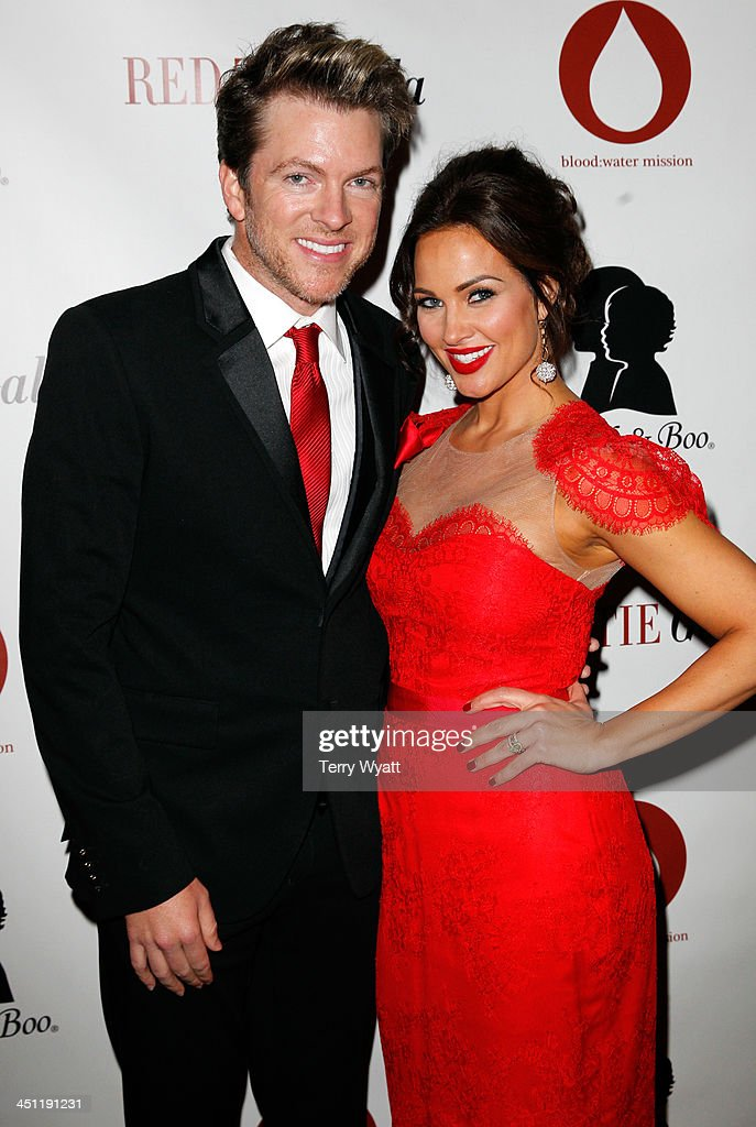 Joe Don Rooney of Rascal Flatts and model Tiffany Fallon attend the Red Tie Gala Hosted by Blood:Water Mission and sponsored by Noodle & Boo at Hutton Hotel on November 21, 2013 in Nashville, Tennessee.