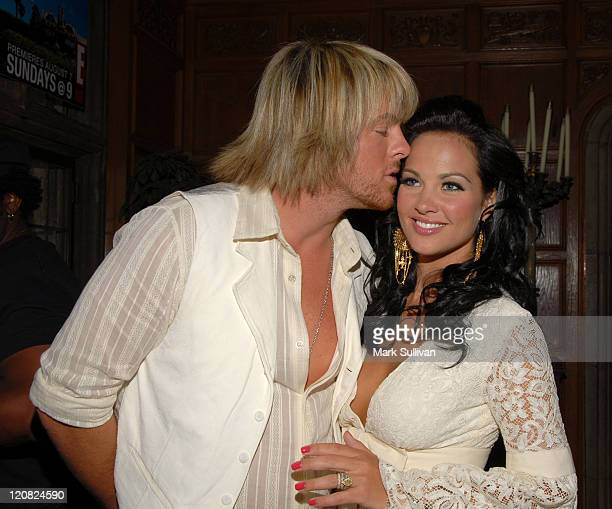 Joe Don Rooney of Rascal Flatts and wife Tiffany Fallon Playboy's 2005 Playmate of the Year