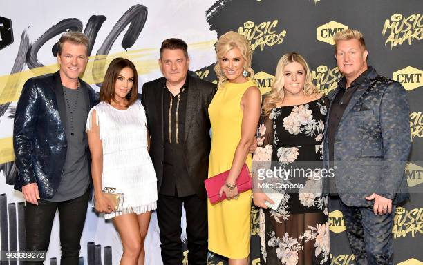 Joe Don RooneyTiffany FallonJay DeMarcus Allison Alderson and Gary LeVox attend the 2018 CMT Music Awards at Bridgestone Arena on June 6 2018 in...