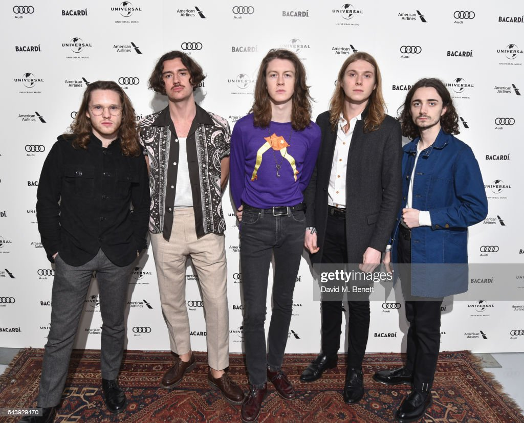 Joe Donovan, Charlie Salt, Tom Ogden, Myles Kenlock and Josh Dewhurst of Blossoms attend the Universal Music BRIT Awards After-Party 2017 hosted by Soho House and BACARDÍ at 180 The Strand on February 22, 2017 in London, England.