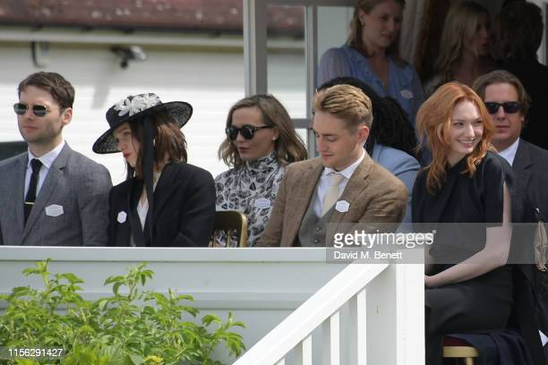 Joe Doyle Anna Brewster Ross Tomlinson and Eleanor Tomlinson attend The Cartier Queen's Cup Polo Final 2019 on June 16 2019 in Windsor England