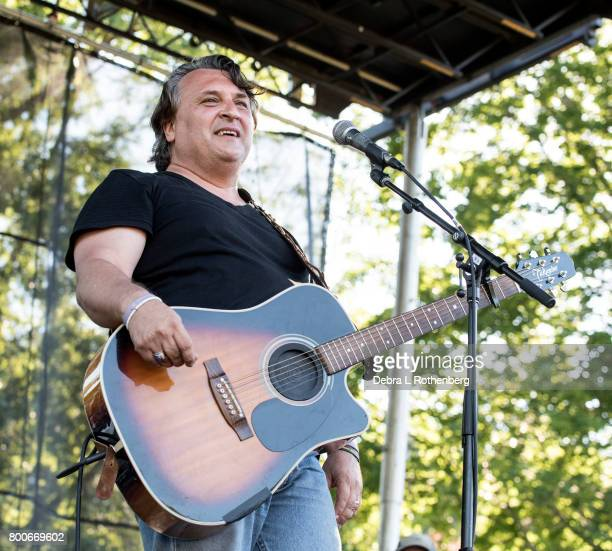 Joe D'Urso performs at the RocklandBergen Music Festival at German Masonic Park on June 24 2017 in Tappan New York