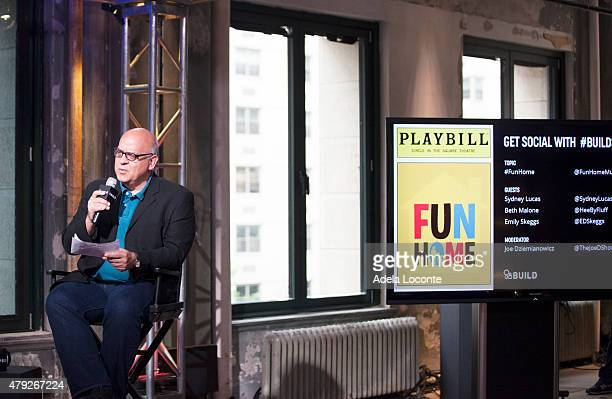 Joe Dziemianowicz attends AOL Build to discuss their extraordinary portrayal of Alison Bechdel in the Tony Awardswinning Broadway Musical Fun Home at...