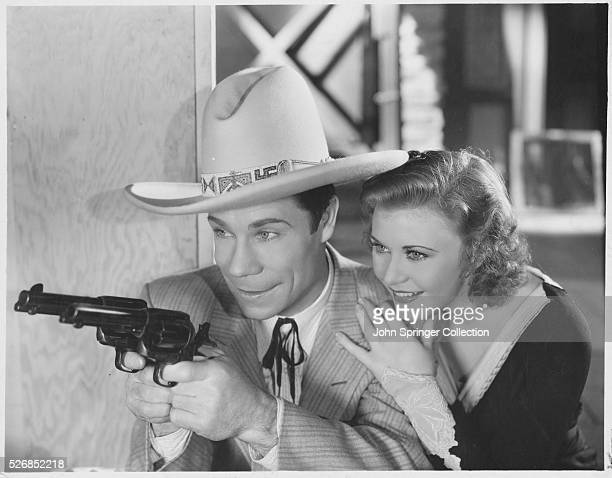 Joe E Brown and Ginger Rogers in The Tenderfoot