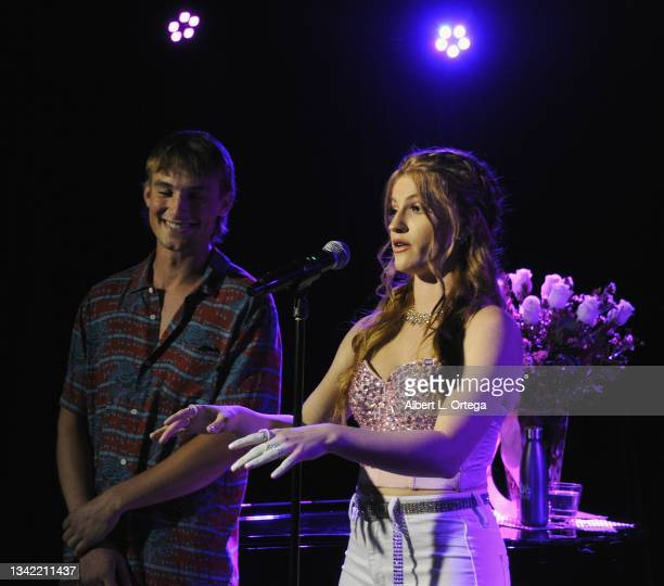 Joe Ederer and Jade Patteri attend the EP Release Party for Jade Patteri held at The Federal NoHo on September 21, 2021 in North Hollywood,...