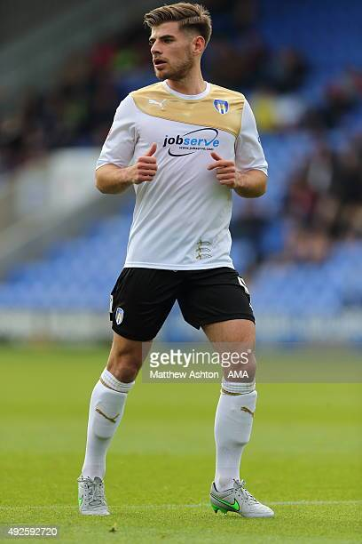 Joe Edwards of Colchester United during the Sky Bet League One match between Shrewsbury Town and Colchester United at New Meadow on October 10 2015...