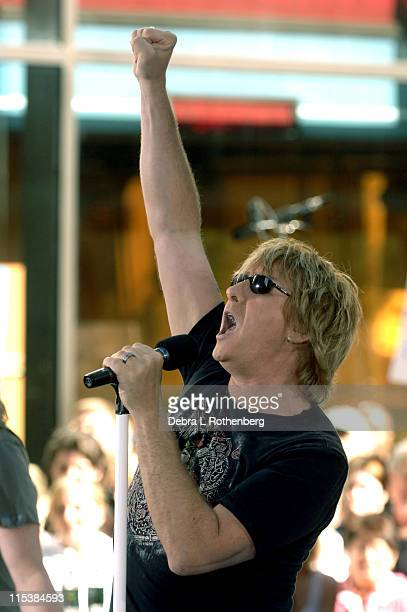 """Joe Elliot during Bryan Adams and Def Leppard Perform on the 2005 """"Today"""" Show Summer Concert Series at Rockefeller Plaza in New York City, New York,..."""